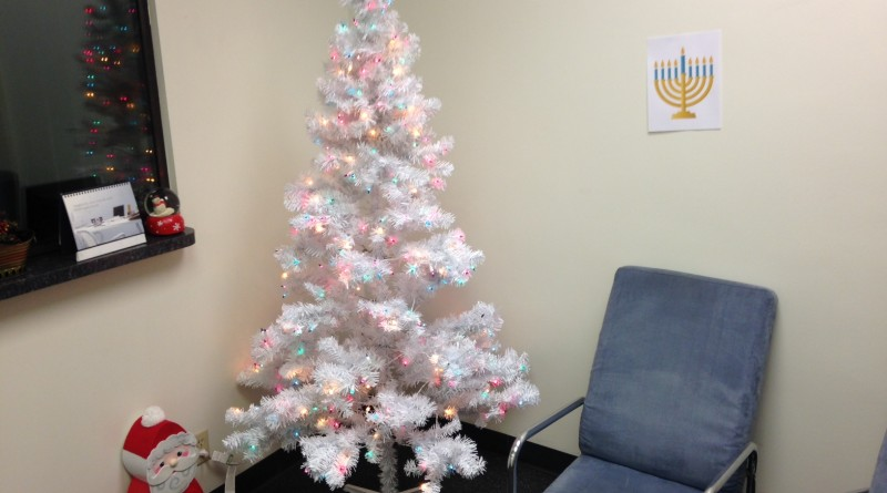 Jews Christmas Trees.Jewish Man Prepared To Be Awkward Afterthought At Work