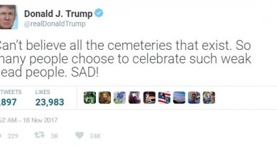 "Trump Bashes the Dead; Calls Them ""Weak"""